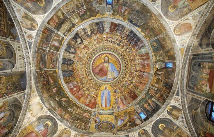 Padova - Battistero del Duomo. Affresco del grande Paradiso di Giusto de Menabuoi, nella cupola. #Menabuoi #paradiso #angeli #santi