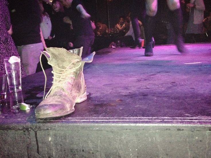 □i-Phone 5_JUL. 28, 2013 that night, i saw one boot on the stage. it looks sad and lonely