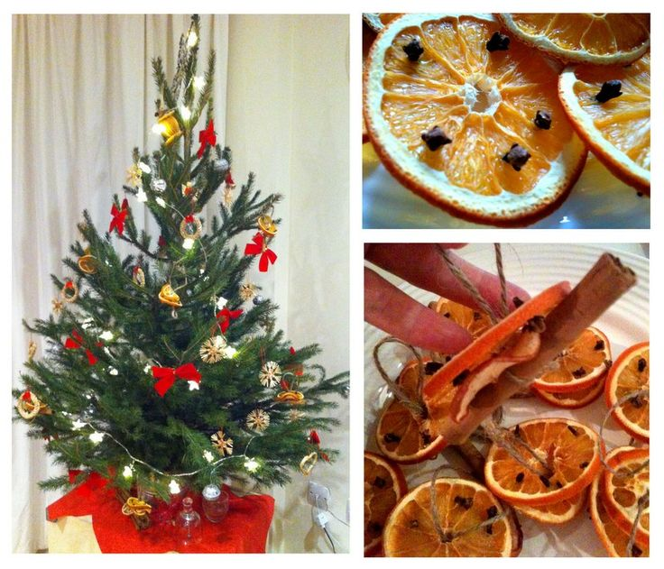 Christmas Fruit Decorations Part - 41: Oranges With Cloves Dried Fruit Christmas Tree Decorations