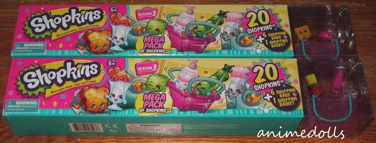 Toys And Games: Shopkins Season 3 20 Mega Pack Set Lot Of 2 New In Box -> BUY IT NOW ONLY: $32 on eBay!