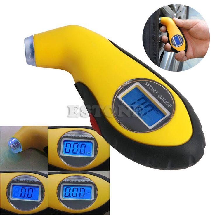 Indicador de Presión de neumáticos Digital Bici Del Coche Camión Auto Aire PSI Meter Tester Medidor de Neumáticos