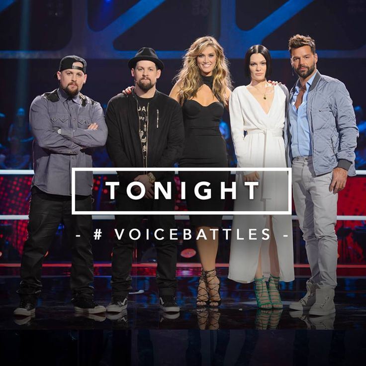 The Voice Australia 2015 with fellow coaches - Benji & Joel Madden, Delta Goodrem & Jessie J.