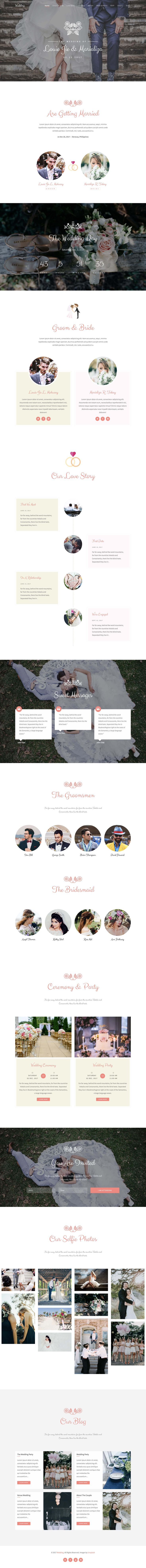 The team over at Qbootstrap have provided us with this FREE One Page HTML Wedding template built on the Bootstrap Framework. The long-scrolling template comes with 3 header options: parallax, video and Flexslider. Other features include a sticky header (that smooth scrolls to sections), countdown timer, love story timeline, groomsmen section, bridesmaids section, RSVP form and photo gallery. A very generous freebie, thank you!