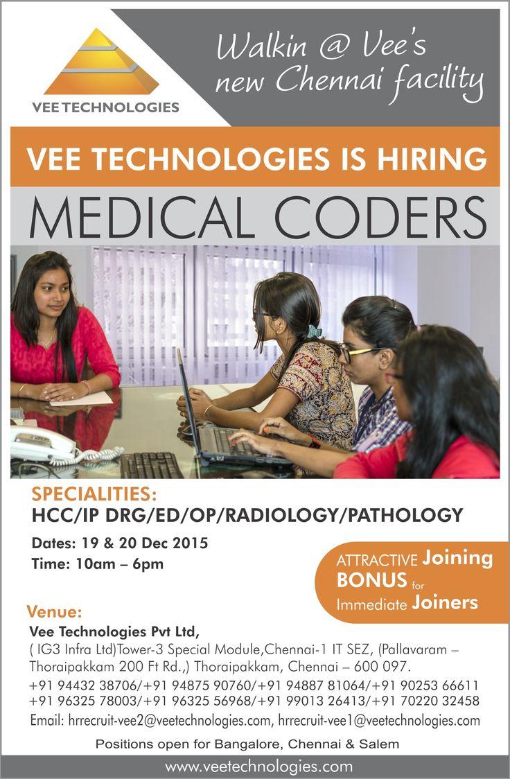 Walkin at VeeTechnologies New Chennai Facility on 19th
