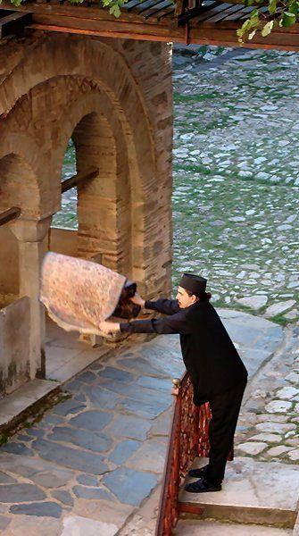 cleaning the church.. Hilandar Monastery, Mount Athos, Greece | by Aleksandar Dekanski (dekanski)