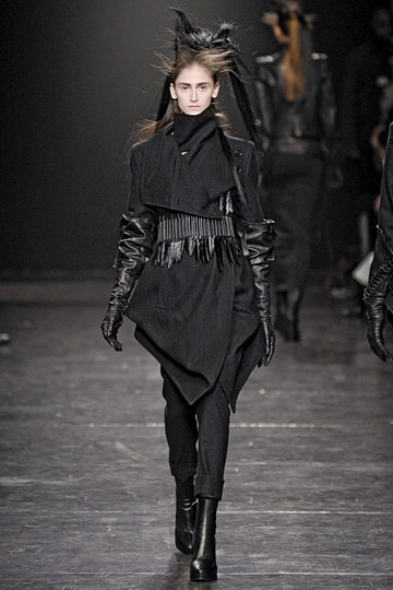 Ann Demeulemeester fall 11 - loving this draped jacket
