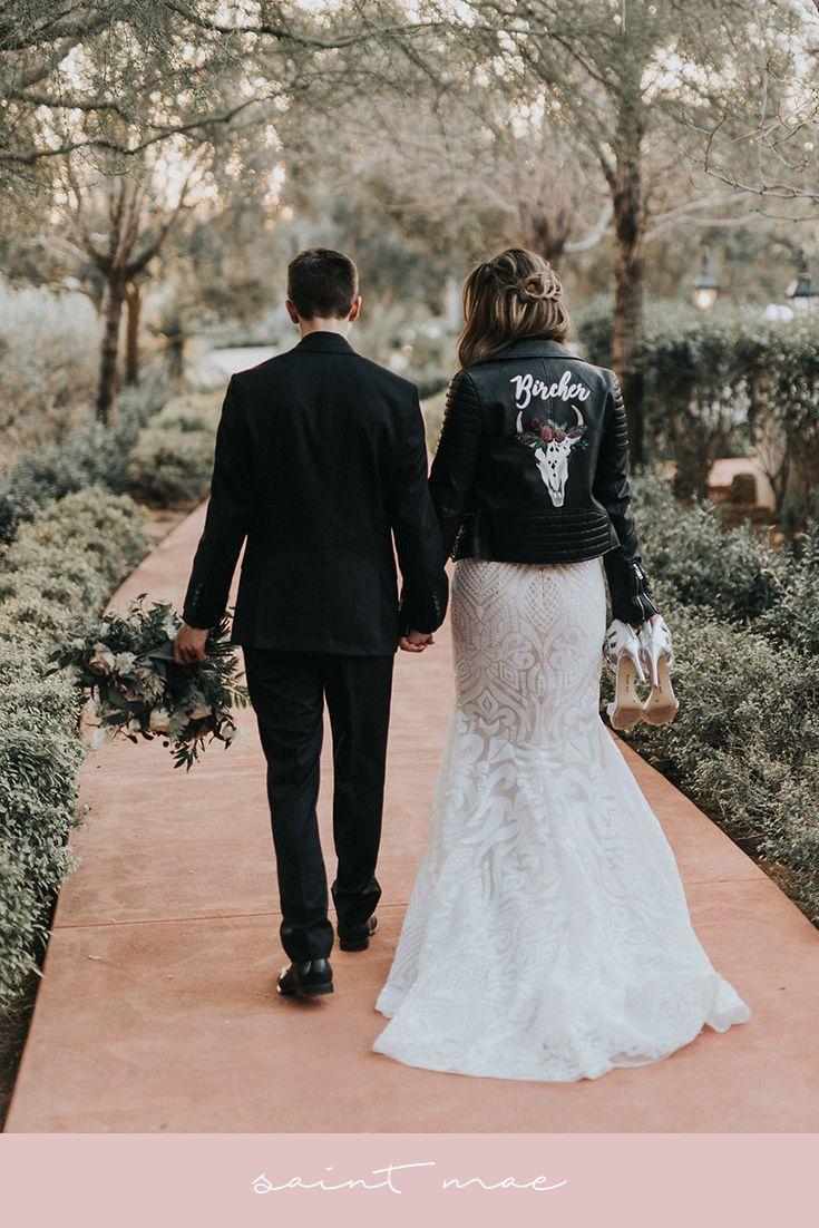 Hand Painted Wedding Jacket Leather Jacket Wedding Alternative Wedding Dresses Bride [ 1102 x 735 Pixel ]