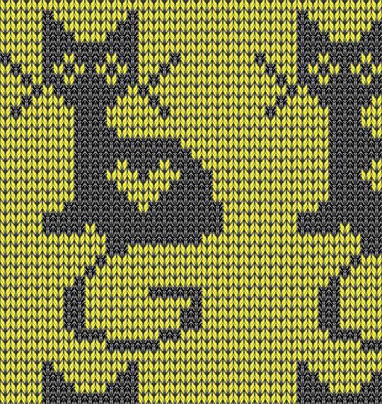 Cat fair isle pattern