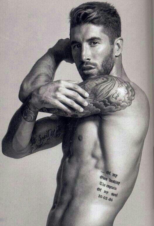 Super 17 Best Ideas About Sergio Ramos Tattoos On Pinterest Sergio Short Hairstyles Gunalazisus