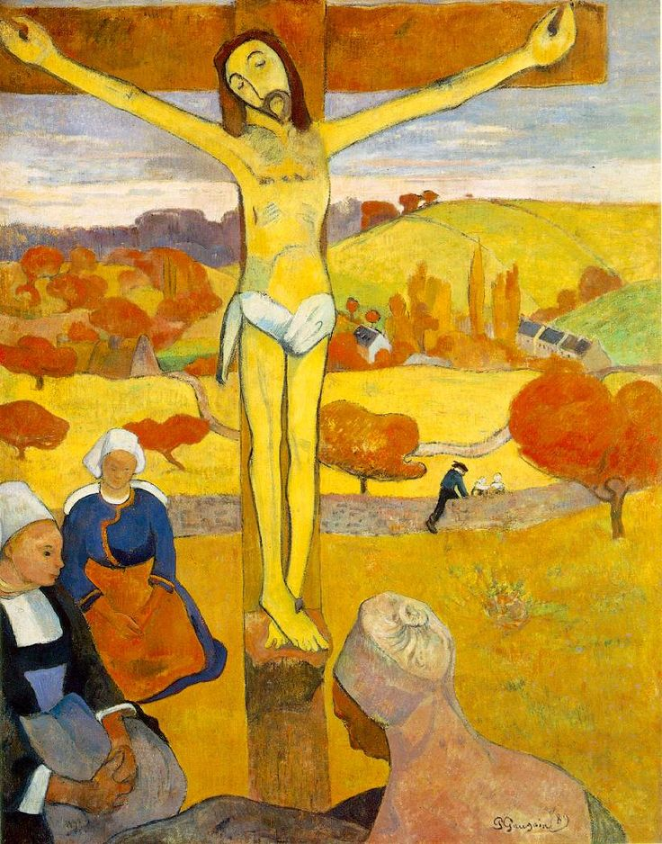 Paul Gauguin - The Yellow Christ. 1889. Oil on canvas.