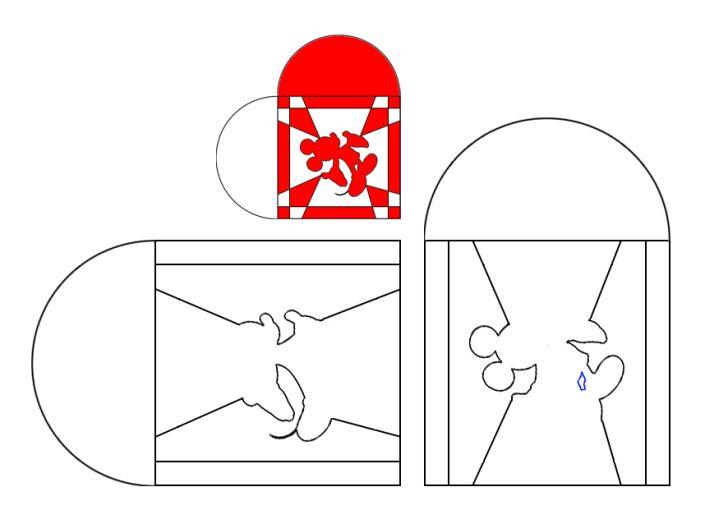 mickey mouse hjerte skabelon