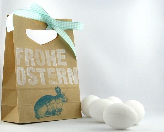 Geschenktüte Ostern // gift bag easter by Ixi und Frida via DaWanda.com