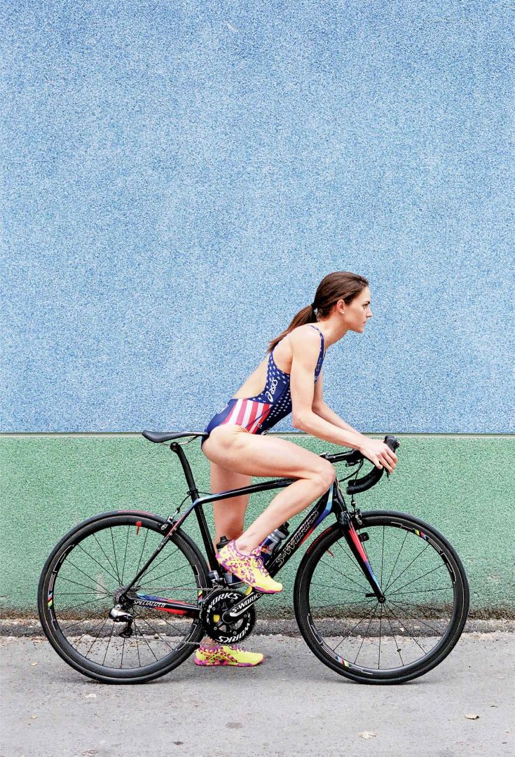 #Olympic #triathlon competitor Gwen Jorgensen won 12 world series races in a row, which means now she gets to wear a rainbow stripes on her jersey