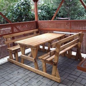 piknik masası - Rahat Geçişli Resmi