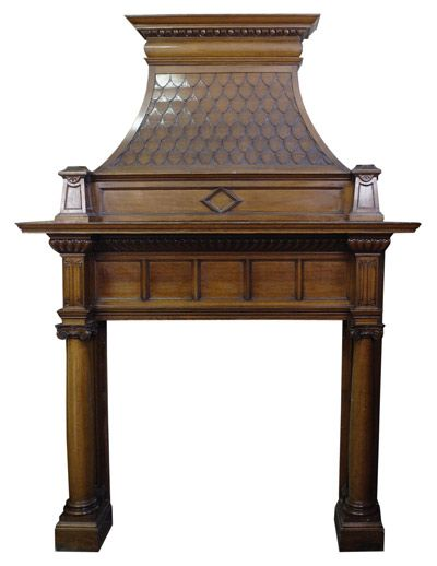 114 best victorian fireplace mantels images on pinterest for Victorian corner fireplace
