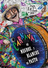 Resultado de imagen para afiche carnaval de negros y blancos
