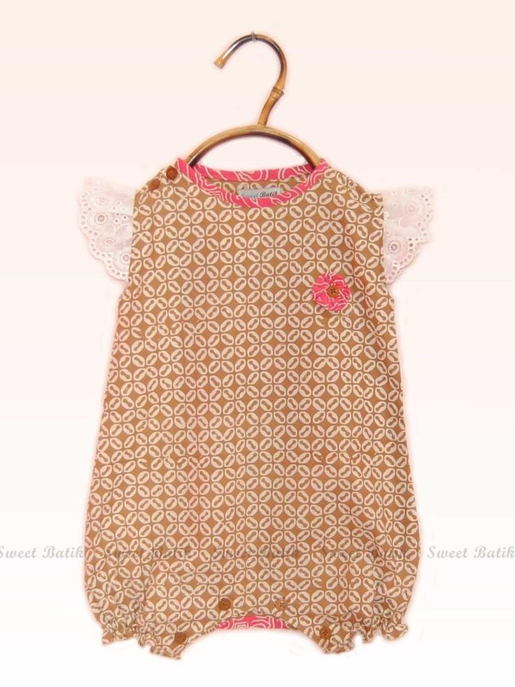 Baby Girl Batik Romper by Sweet Batik Indonesia. -BelindoMag