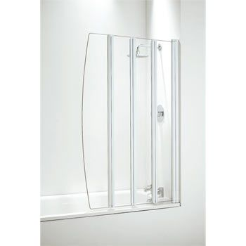 Coram - Four Panel Folding Bathscreens - 2 Colour Options