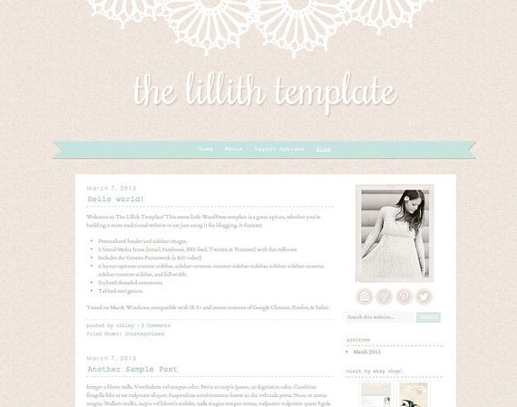 17 Best Images About Blogger Template On Pinterest Posts