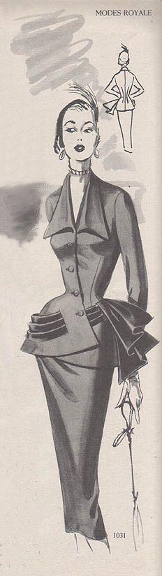 Modes Royale 1031, ca 1951-52; Sz 16/Bust 34