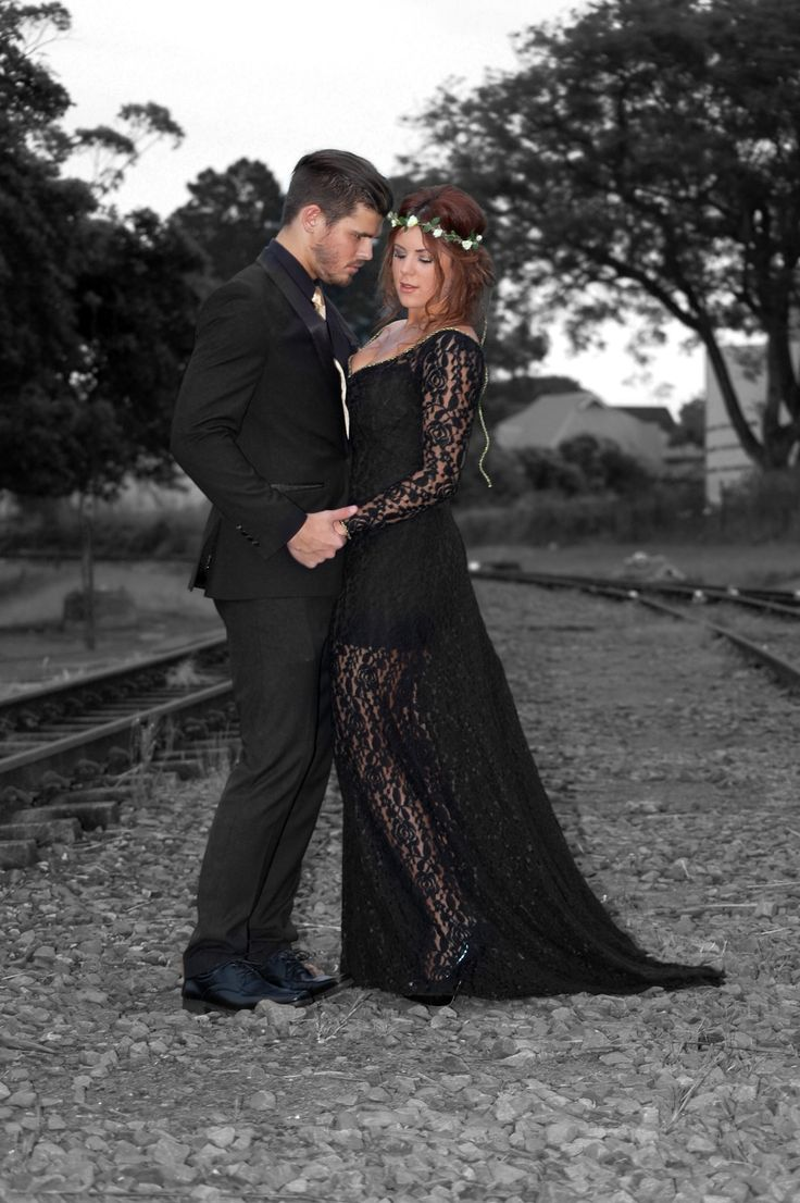 Sarah and Cole, photo taken at Kloof Train Station - outside the Stoker's Arms - Matric Dance - May 2014