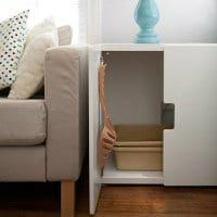 les 25 meilleures id es concernant meuble litiere chat sur pinterest cacher les liti res. Black Bedroom Furniture Sets. Home Design Ideas