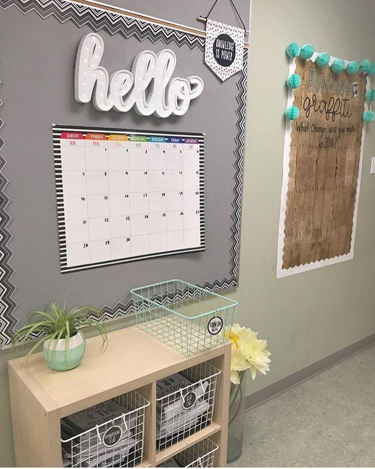 Classroom calendar wall display