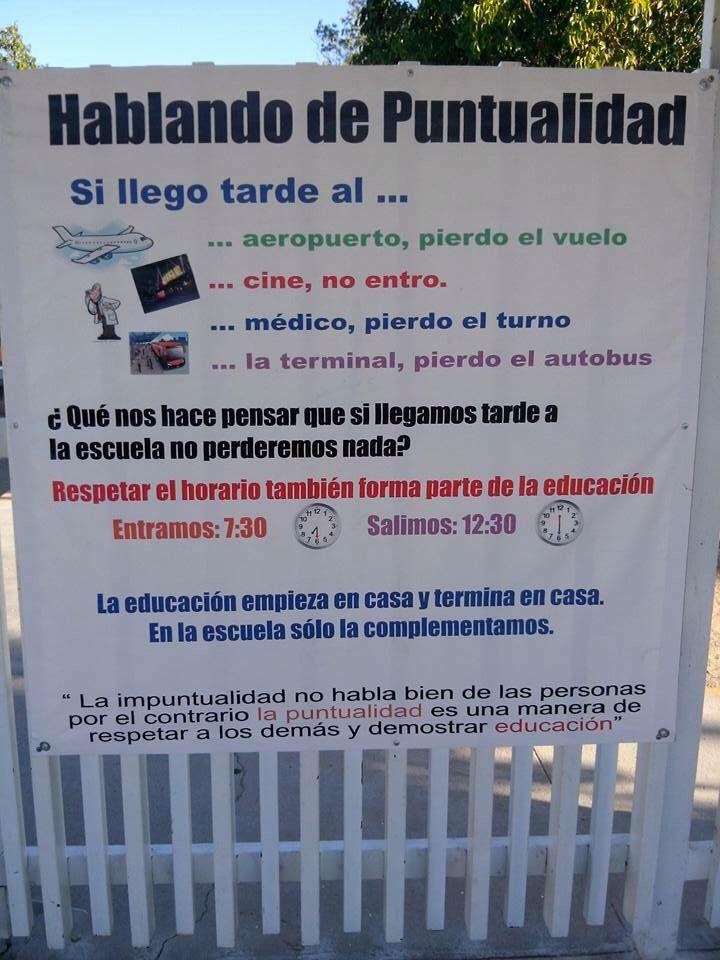 HABLANDO DE PUNTUALIDAD: Si llegó tarde a...