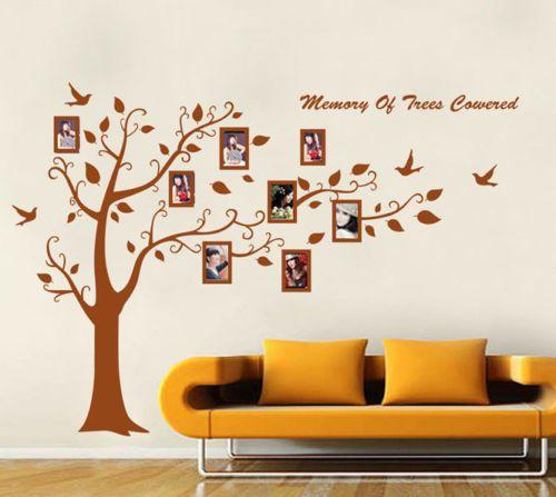Trend Baum Wandaufkleber Wandsticker Dekoration Wandtattoo Wanddeko Wanddekoration eBay