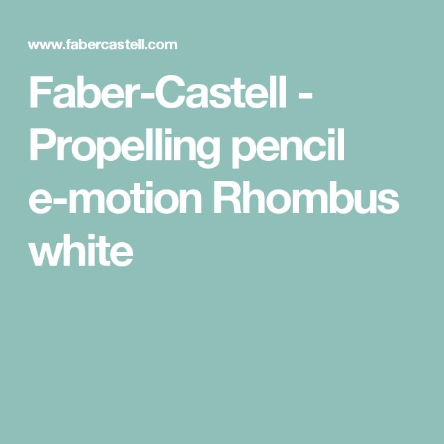 Faber-Castell - Propelling pencil e-motion Rhombus white