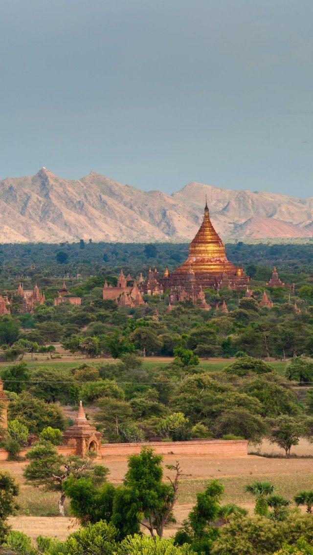 Temples Of Bagan Burma IPhone 5 Wallpapers Backgrounds 640 X 1136