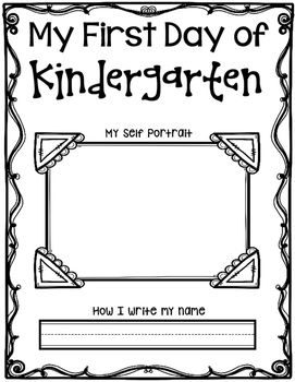 Hi Teachers! This freebie is for a Beginning of Kindergarten Self Portrait and…