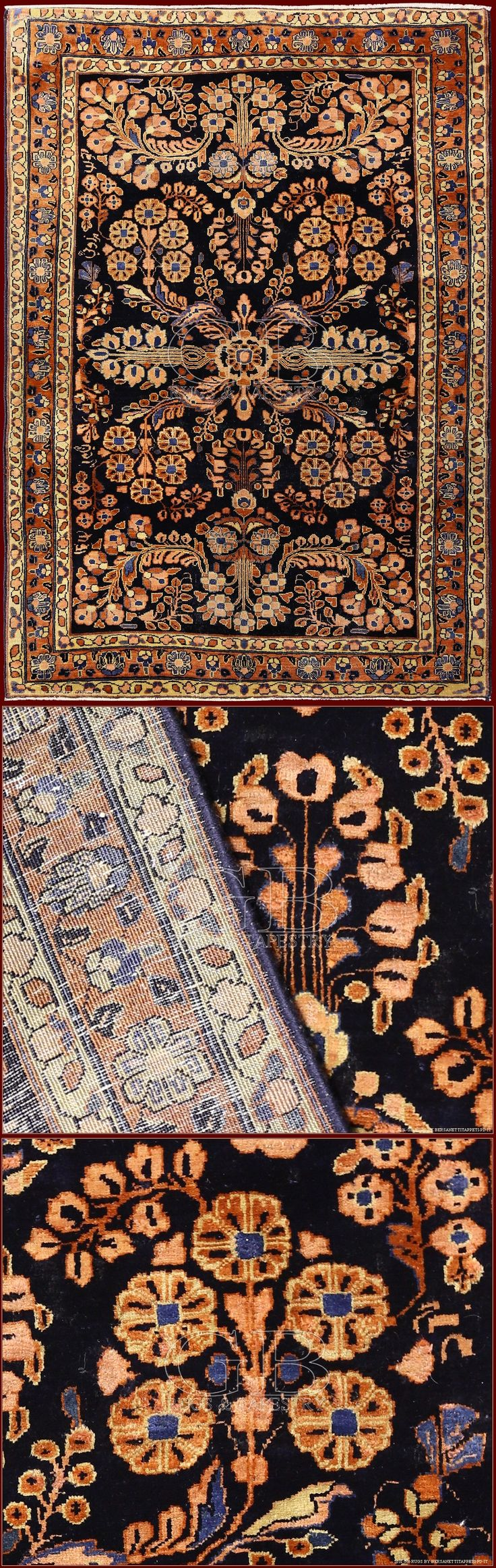 Elegant this SAROUK ANTIQUE RUG is in good state of maintenance: it is full pile and it has never suffered restorations. They are rugs that were knotted on commission in the district of Arak to be exported in U.S.A. between the end of 19th. sent. and the beginning of 20th. cent.