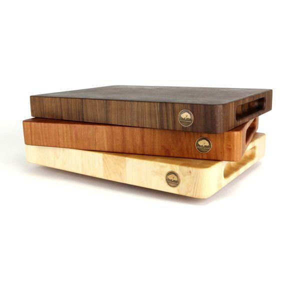 The Classic End Grain Cutting Board, Wedding Gift, Housewarming Gift, Handmade Wood Cutting Board