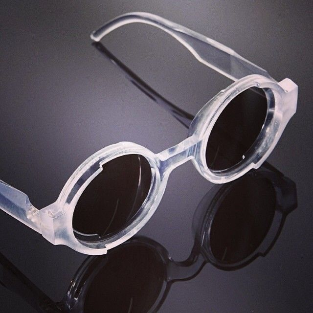 Sculpted sunglasses in contrasting mattified and polished acetate. Itokawa Film x General Eyewear capsule collection.
