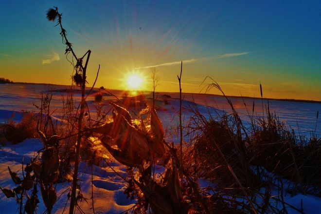 Sunrise on the Bay of Quinte: looks like Spring ... Bay of Quinte, Belleville, ON, Canada ... by Jack Tweedy