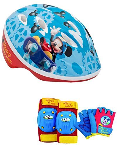 Disney Mickey Mouse Toddler Boys Skate / Bike Helmet Pads & Gloves - 7 Piece Set Disney http://www.amazon.com/dp/B00XXMGUH4/ref=cm_sw_r_pi_dp_9QD4vb1G6WSV6