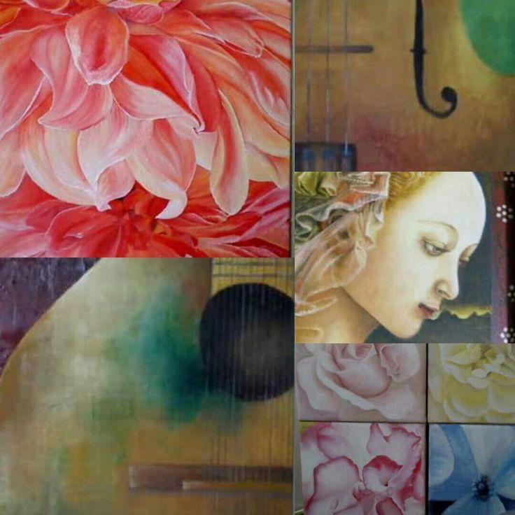 Pintado para personas muy queridas #amor #oleo @artesupa