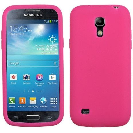 MYBAT Solid Skin Cover Case for Samsung Galaxy S4 Mini - Hot Pink
