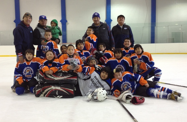Alexis Atom Team Bronze winners of Alberta Native Hockey tournament  2013