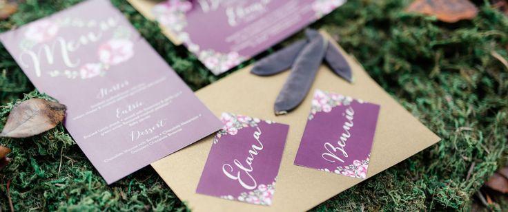 Aubergine | Wedding inspiration