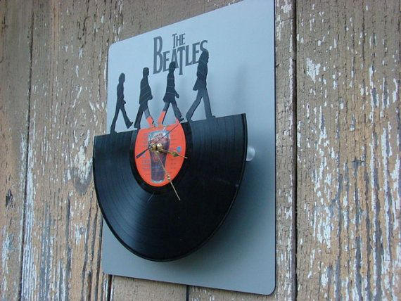 Repurposed recycled Vinyl Record  L.E.D. Back Lit by ReSpinIt, $75.00