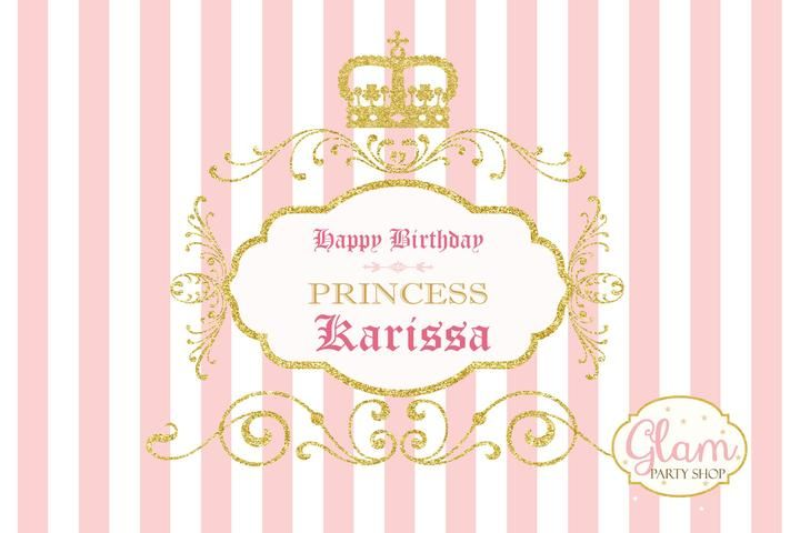 Light Pink and Gold Princess Crown backdrop