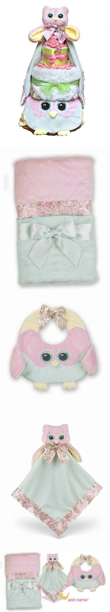 Owl Diaper Cake-cute Baby Girl Gift for Baby Shower--Pink Diaper Cake Makes a Perfect Baby Gift Basket