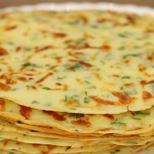 Сырные блины с зеленью -…