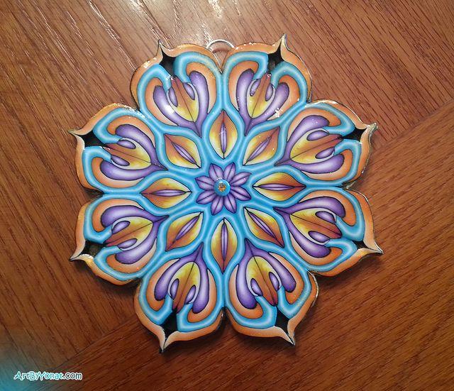 Polymer clay MANDALA   Flickr - Photo Sharing!