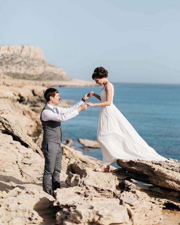 We have counted: the geography of our shootings already covers 20 countries! And we're ready for more!  Nikita & Alexandra Cyprus.  #fontanawedding #antonwelt #weddingphotography #couple #seashore #cyprus #wedding #brideandgroom