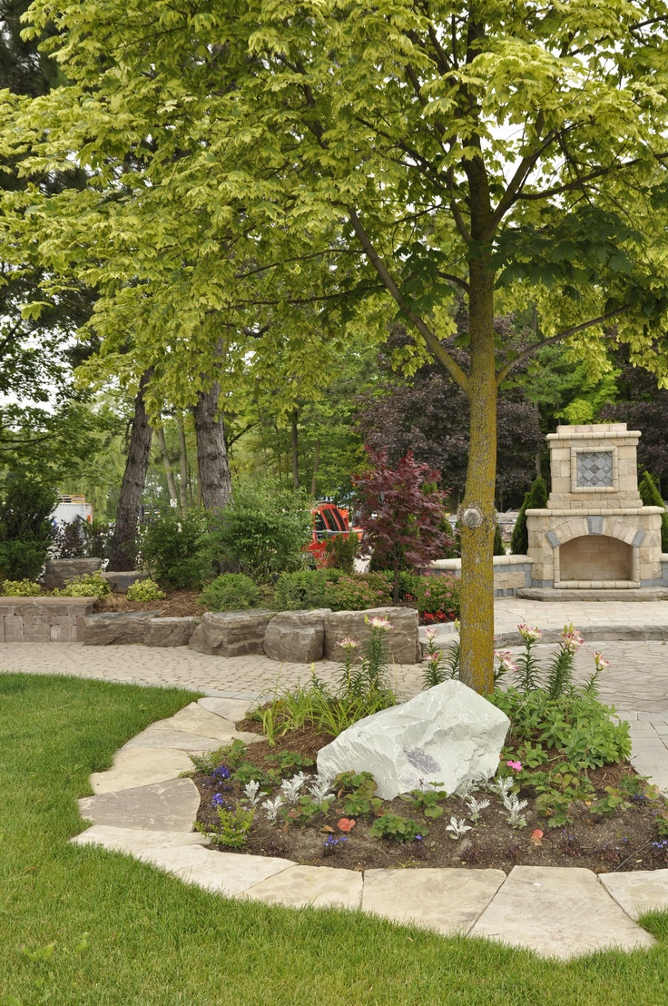 247 best images about Landscaping ideas with stone on Pinterest