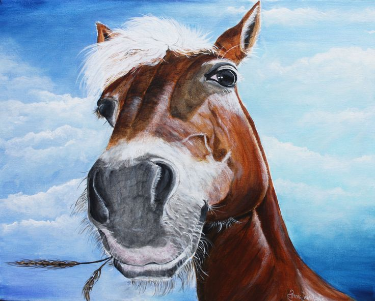 'Harry The Horse'.  He is painted using acrylics on a block canvas....he looks as though he knows he's rather gorgeous!!