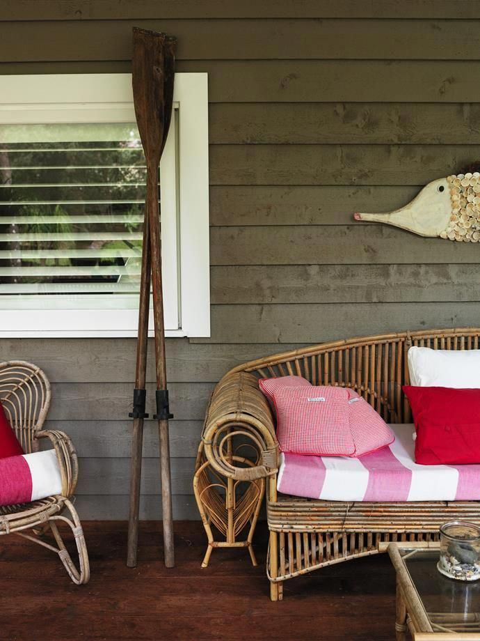 Rattan Furniture And Nautical Themed Accessories Make This Back Deck The Ultimate Coastal Retreat Photography Chris Court Styling Francesca Heymann